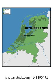 Administrative Map Netherlands Stock Illustration 149193434
