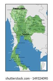 Simple Map Thailand Stock Illustration 149324150 Shutterstock