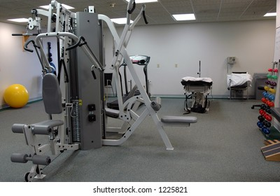 Physical therapy office rehabilitation equipment