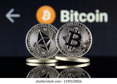 Physical version of Ethereum (ETH) and Bitcoin (BTC). 2 largest cryptocurrencies in terms of market capitalization.