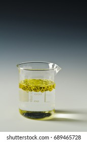 Physics. Immiscible fluids. Oil being poured into water.3 of 4 image series.