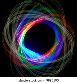 Physiogram spiral using three colour filters