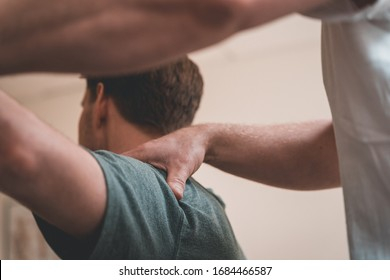 Physiotherapy doing treatment for various physical ailments on patient