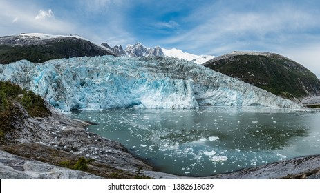 The Pia Glacier lies in a fjord along the Chilean Patagonia coast. It is in a secluded spot and its sheer size and beauty are mesmerising – Ainsworth Bay, Tierra del Fuego, Patagonia, Chile