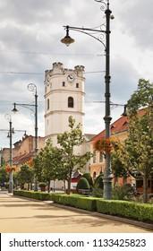 Piac - Market street in Debrecen. Hungary