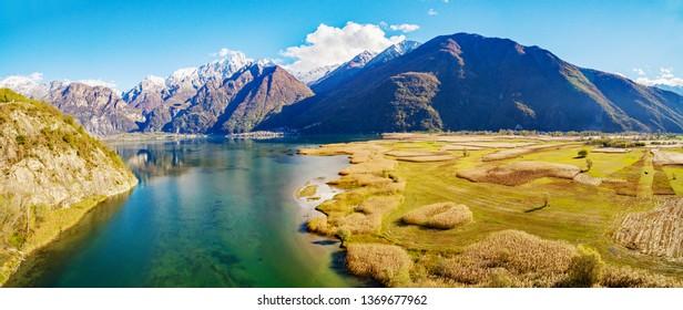 Pian di Spagna Nature Reserve - Lake of Novate Mezzola - Valchiavenna (IT)