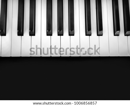 Piano Background On Black Screen Stock Photo (Edit Now) 1006856857