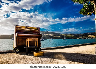 Piano by the beach
