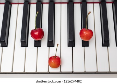 Piano chord G#m (G sharp minor) / Abm (A flat minor) shown by cherries on the key