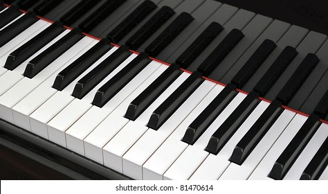 Piano closeup