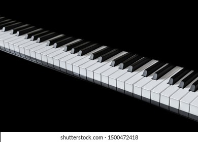 Piano and Piano keyboard with black backgrounds.