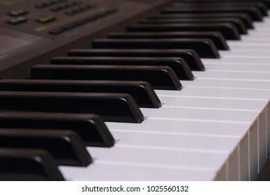 Piano  keyboard close-up