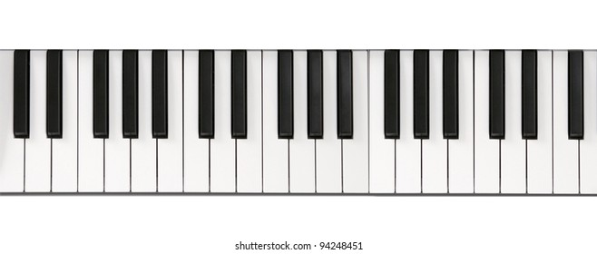 Piano keyboard close-up background