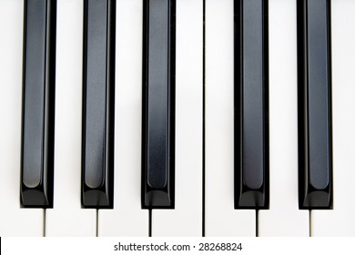 Piano keyboard seven white and five black key