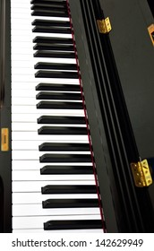 Piano keys background, Classical instrument