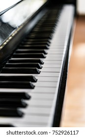 Piano Keys, Close up shot with Shallow depth of Field