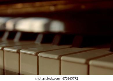 piano keys ,close-up/ abstract background