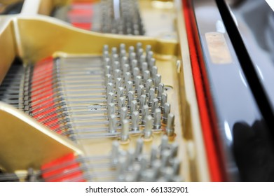 piano keys and the piano inside