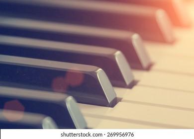 Piano keys - instagram style