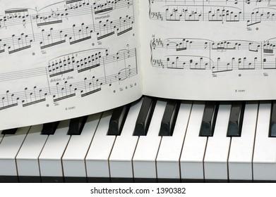 Grunge Musical Background Piano Keys Sheet Stockillustration