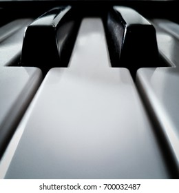 piano keys perspective front view