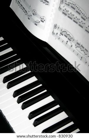 Piano Keys Sheet Music Stock Photo Edit Now 830930 Shutterstock