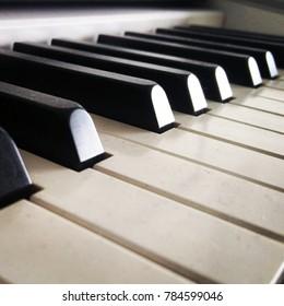 piano notes close up