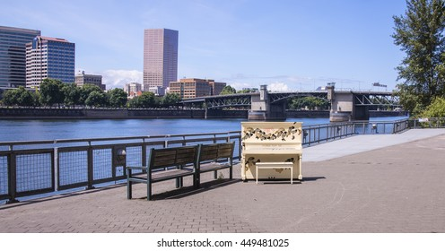 The Piano on the Eastbank Esplanade in Portland.