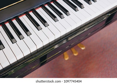 Piano on top view , in class room and space