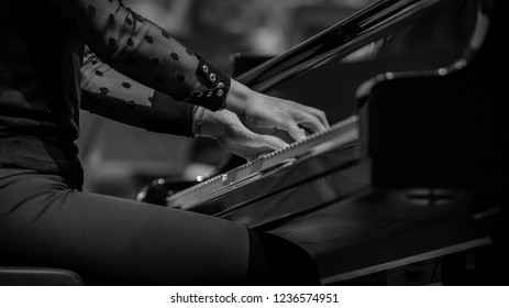 Piano player isolated