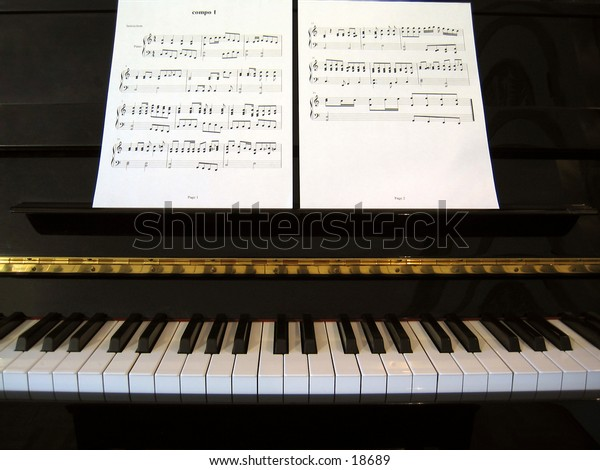 Piano with piano score composition