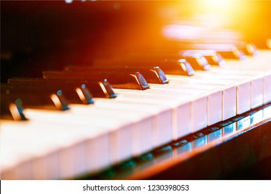 The piano was set up in the music room by the windows in the morning to allow the pianist to rehearse before the classical piano performance in celebration of the great businessman's success.