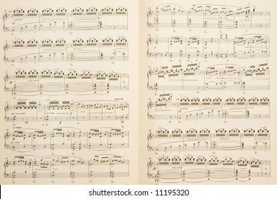Piano sheet music background / texture
