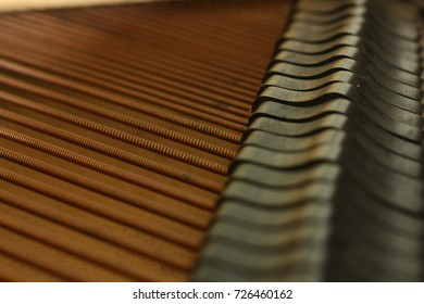 Piano strings.