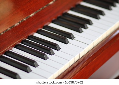 Piano white  keys and black keys