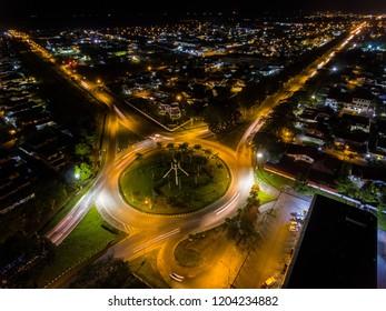 Piasau Roundabout Miri at Night