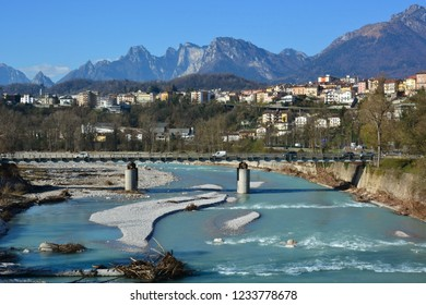 the Piave river crosses the town of Belluno