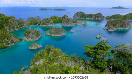 Piaynemo Lagoon, Fam Archipelago, North Raja Ampat, one of the most beautiful and pristine lagoon in Indonesia