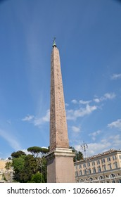Piazza del popolo in Rome with its ancient egyptian obelisk