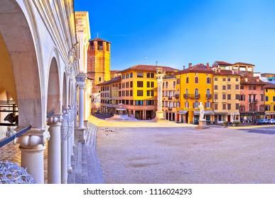 Piazza della Liberta square in Udine landmarks view, Friuli-Venezia Giulia region of Italy