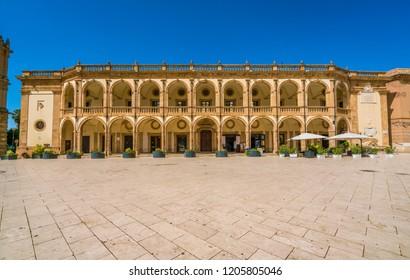 Piazza della Repubblica in Mazara del Vallo, town in the province of Trapani, Sicily, southern Italy.