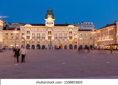 Piazza dell'unità d'Italia, Trieste, Friuli Venezia Giulia, Italy