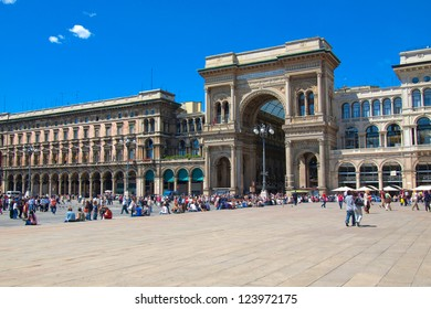 The Piazza Duomo square in Milan, Italy