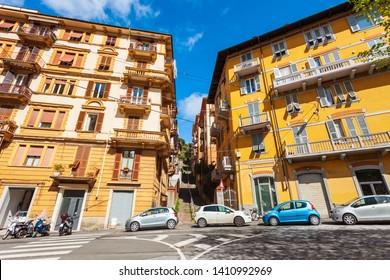 The Piazza Garibaldi square in La Spezia city, Liguria region of Italy