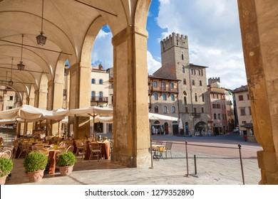 Piazza Grande, Arezzo, Val di Chiana, Arezzo district, Tuscany, Italy