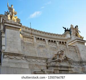 the piazza venezia in rome