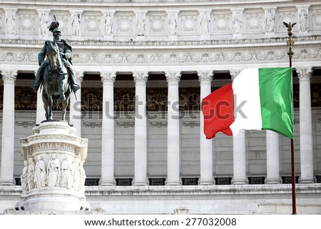 The Piazza Venezia, Vittorio Emanuele, Monument for Victor Emenuel II, in Rome, Italy