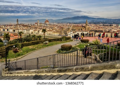 Piazzale Michelangelo with panoramic view in Florence, Italy