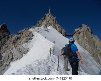 Pic du Midi ascent in France, Alps, Chamonix
