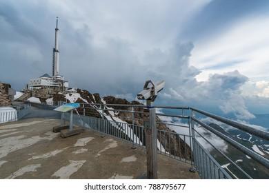 Pic du Midi de Bigorre telecast antenna, Hautes Pyrenees, France